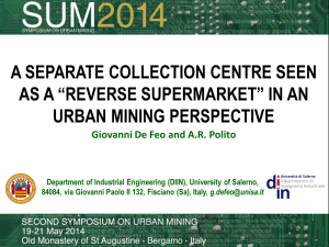 Second Symposium on Urban Mining, Bergamo 19-21 Maggio 2014