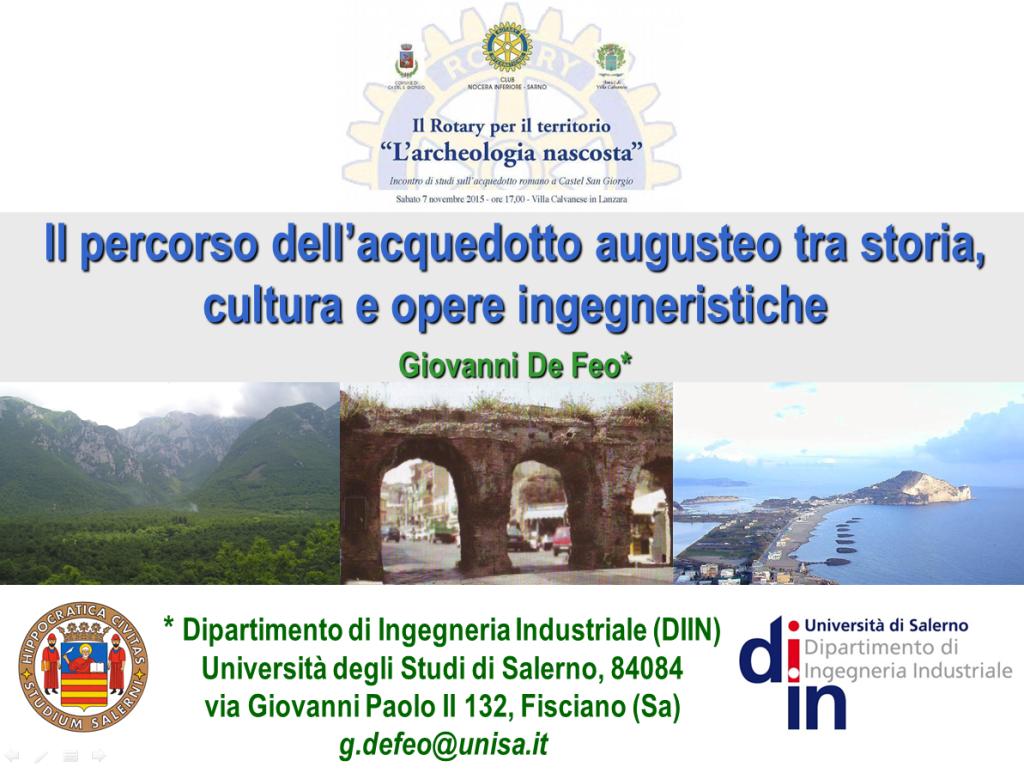 Il percorso dell'acquedotto augusteo tra storia, cultura e opere ingegneristiche