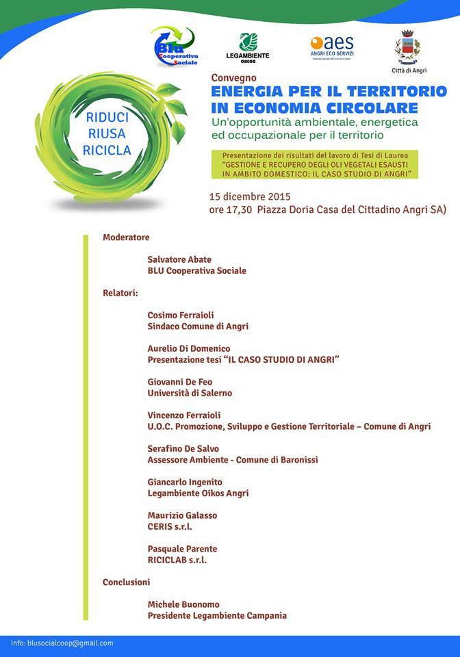 ENERGIA PER IL TERRITORIO IN ECONOMIA CIRCOLARE - Programma