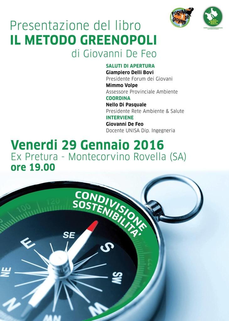 IL METODO GREENOPOLI a Montecorvino Rovella - Programma