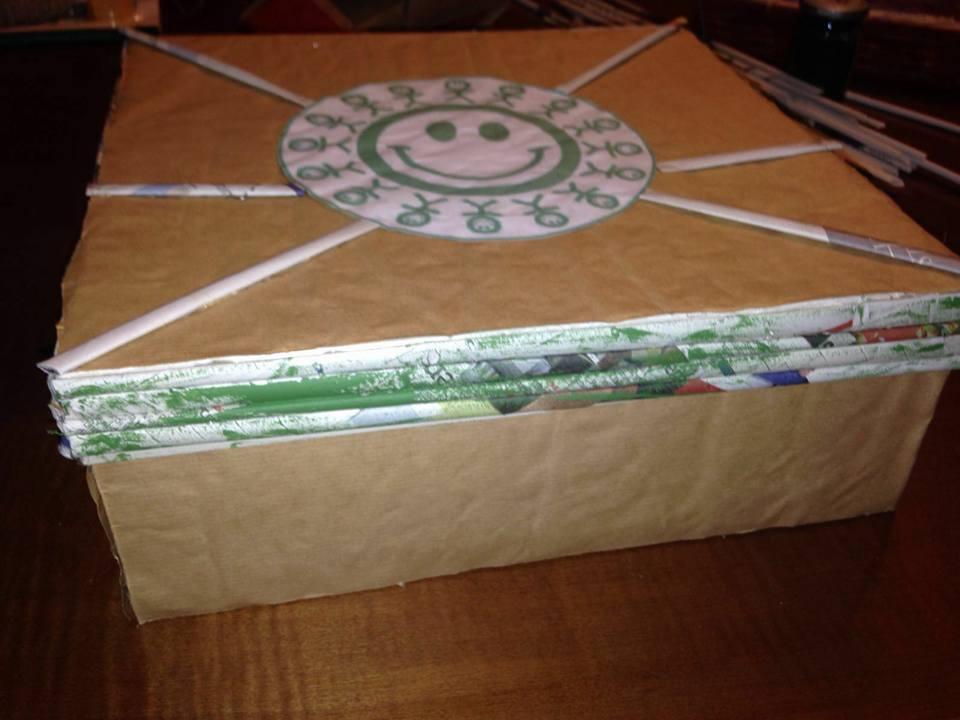 La scatola in carta riciclata