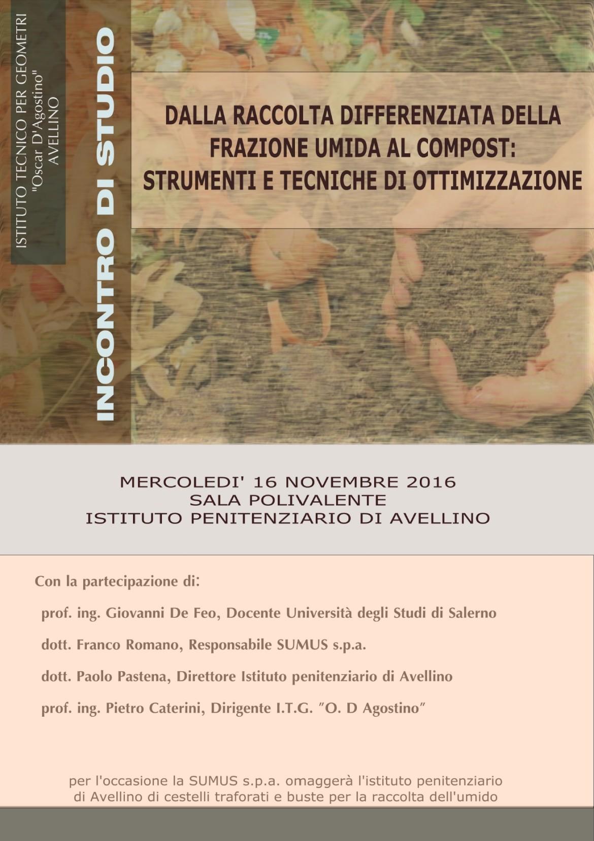 All'Istituto Penitenziario di Avellino si parla di raccolta differenziata e di compostaggio