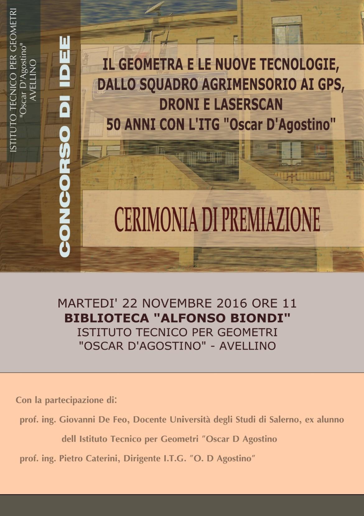 Lo storico Istituto Tecnico per Geometri di Avellino compie 50 anni e premia gli allievi delle medie